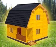 ТБС-14. Проект двухэтажного дома из бруса 6х6
