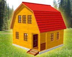 ТБС-15. Дом из бруса 6х6 с ломаной крышей
