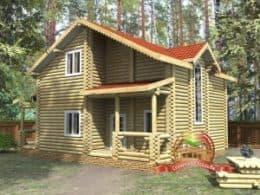 ДС-15. Проект дома из бревна 9.5 на 11.2 метров