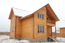 Ферзиково. Зимний дом из бруса с отделкой