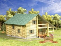 Дом из бревна 9 на 10 метров, проект, фото, СД-9