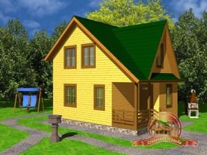 Дом из бруса 6 на 8, 8х6 двухэтажный, ДБ-14