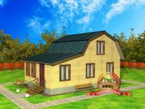 Проект четырехкомнатного дома из бруса 6х9 с санузлом