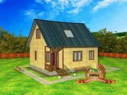 """Проект дома из профилированного бруса 7х9, проект """"Солнечный"""""""