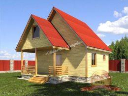 Дом из профилированного бруса 7х10 с террасой, НБ-26