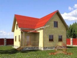 Дом из профилированного бруса 9х9 с ломаной крышей, НБ-34