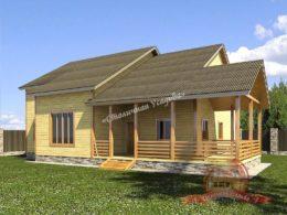 Дом из профилированного бруса со вторым светом 13х13, НБ-35