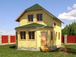 Проект деревянного дома из бруса 7х10, НБ-37