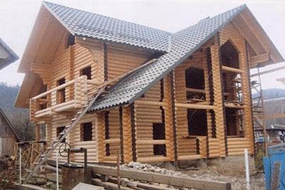 Строительство сруба из оцилиндрованного бревна в Пеновском районе
