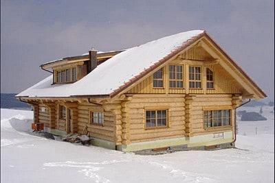 Зимний сруб из оцилиндрованного бревна, Кашинский район