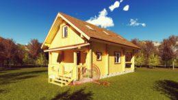Эксклюзивный проект двухэтажного дома 7х11.5 с сауной, СБ-28