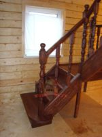 Классическая лестница с площадкой 90 градусов